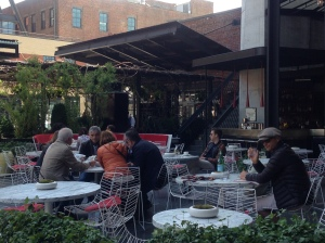 Spring is here and The Standard Biergarten becomes an outdoor cafe again...