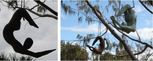 Marie-France Rose has created Cirque du Ciel (Circus of the Sky). One of these gorgeously elegant trapeze artists definitely belongs in my garden.