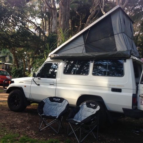First night in troopy