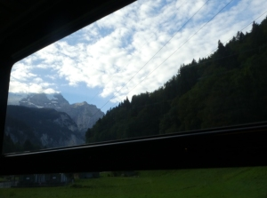 View from train in Switzerland
