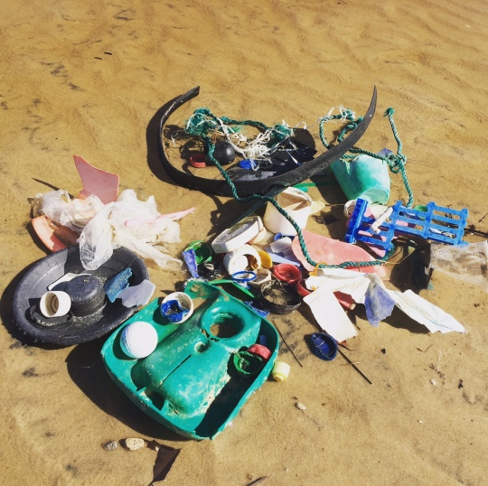 Rubbish on beach